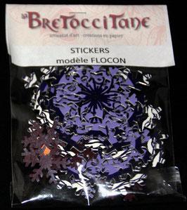 """Stickers Flocons de neige """"Violet"""" / """"Violet"""" snowflakes stickers"""