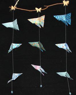 "Mobile papillons ""Océan"" - ""Ocean"" butterflies mobile"