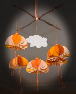"""Mobile parapluies """"Tangerine"""" - """"Tangerine"""" umbrellas mobile"""