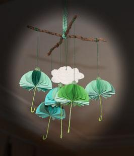 "Mobile parapluies ""Prairie"" - ""Meadow"" umbrellas mobile"