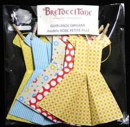 "Guirlande robe Petite fille ""Promenade"" - ""Walk"" Little girl dress garland"