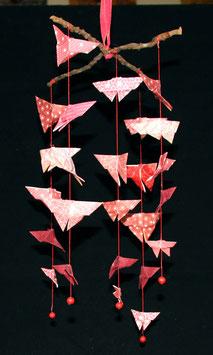 """Mobile papillons """"Vermillon"""" - """"Vermilion"""" butterflies mobile"""