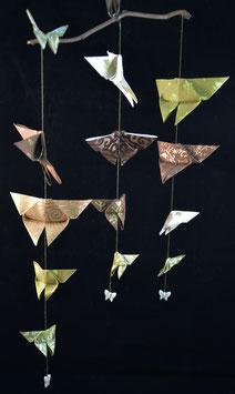 "Mobile papillons ""Baroque 4"" - ""Baroque 4"" butterflies mobile"