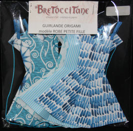"Guirlande robe Petite fille ""Océan"" - ""Ocean"" Little girl dress Garland"