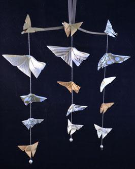 "Mobile papillons ""Baroque 3"" - ""Baroque 3"" butterflies mobile"