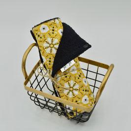 j&j_Essuie-tout lavable | Collection Fleurs moutardes