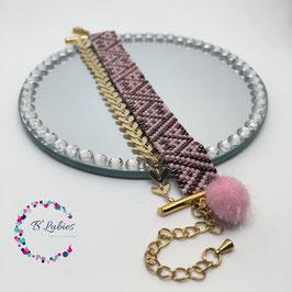 BL-Bracelet Epis rose