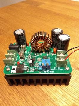 Modulo elevador de voltaje + electrodos de oro 9999 (0.5mm x 10 cm)