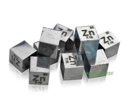 Zinco cubo densità 10mm 99.99% lucente