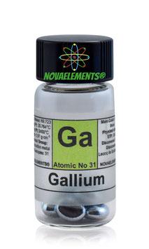 Gallio pellets 99.997% in fiala etichettata