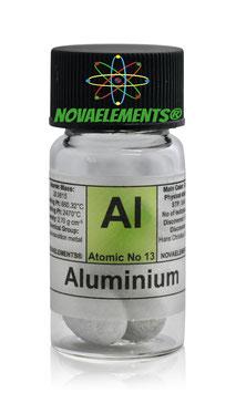 Alluminio lucenti e grandi pellets 99.9% 5 grammi