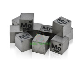 Molibdeno cubo densità 10mm 99.99%