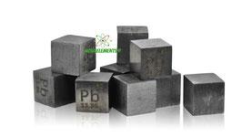 Piombo cubo densità 10mm 99.95%
