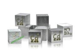 Cadmio cubo densità 99.99% 10mm
