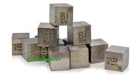 Bismuto cubo densità 10mm 99.99%