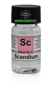 Scandio metallo ≅ 0.1 grammi 99.99%