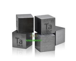 Tantalio cubo densità 19mm 99.99%