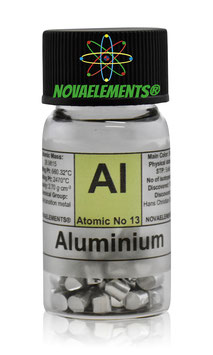 Alluminio pellets rettangolari 5 grammi 99,99%