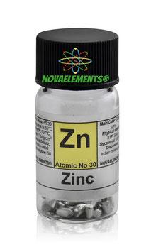 Zinco cilindretti 5 grammi 99,99%