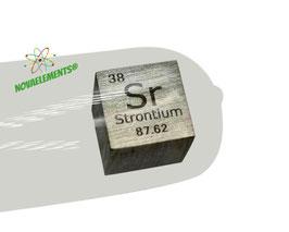 Stronzio cubo densità 99.5% 10mm in argon