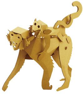 Tierfigur Falt-und Steckbausatz: Affe