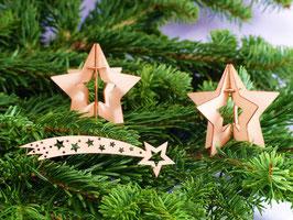 Holzsterne-Set Weihnachtsdekoration