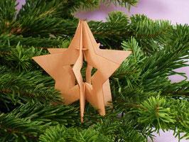 Holzstern (groß) - Weihnachtsdekoration