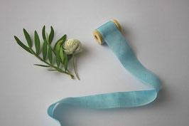 Seidenband turquoise 2 cm breit