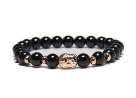 Bracelet Buddha Shiny black