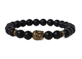 Bracelet Buddha Matte Black Gold