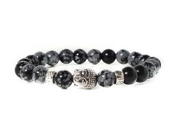 Bracelet Buddha Spotted Black