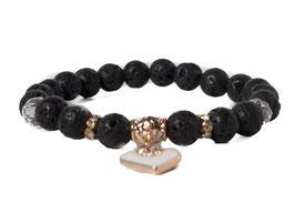 Bracelet Lavastone Beads Heart