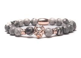 Bracelet Lion Rosegold Grey