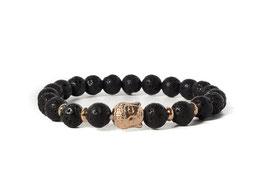 Bracelet Buddha Lavastone Black