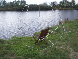 Dodekaeder aus Aluminium Kantenlänge ca. 63 cm