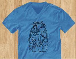Terri Hendrix Wilory Farm Turquoise Unisex V-Neck T-Shirt
