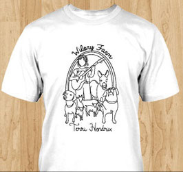 Terri Hendrix Wilory Farm White Crew Neck T-Shirt