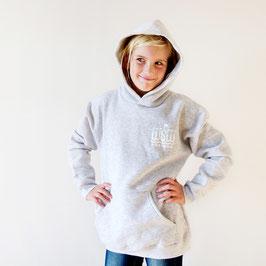 Kapuzen-Pullover »WSW Logo« für Kinder, Farbe Hellgrau