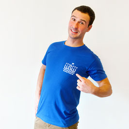 T-Shirt »WSW Logo« für Erwachsene, Farbe Blau