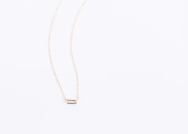 Princess Cut Diamond 3P Necklace