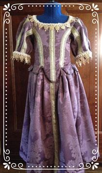 """Robe XVII éme """"Vaux le Vicomte"""" taille 8 ans costume historique"""