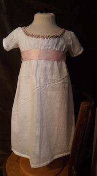 Robe Empire blanche en voile de coton 2 ans