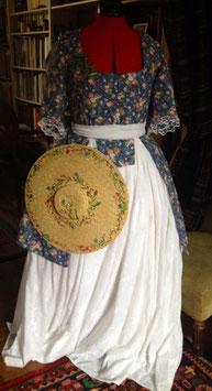 """Caraco"""" Marie Antoinette aux champs """"XVIII°s Coton t 40/42"""