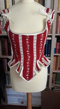 Corps baleiné /corset d'inspiration 18eme s taille 34/36 coton