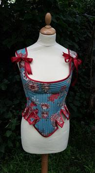 corps baleiné / corset d'inspiration 18 eme . taille 40/42 en coton .