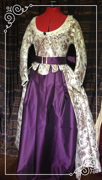 Robe à l'anglaise fin XVIII s. taille 38/40