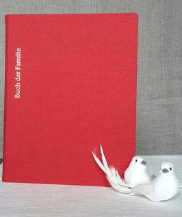 Stammbuch, rot, Gewebe