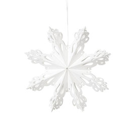 Deko Snowflake White