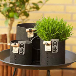 Outdoor Eco-Felt Basket black