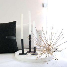 Taper candle holder black